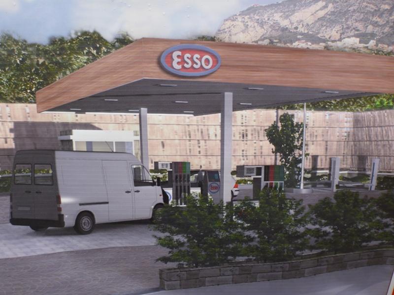 Il progetto della pompa di benzina a Piano di Sorrento